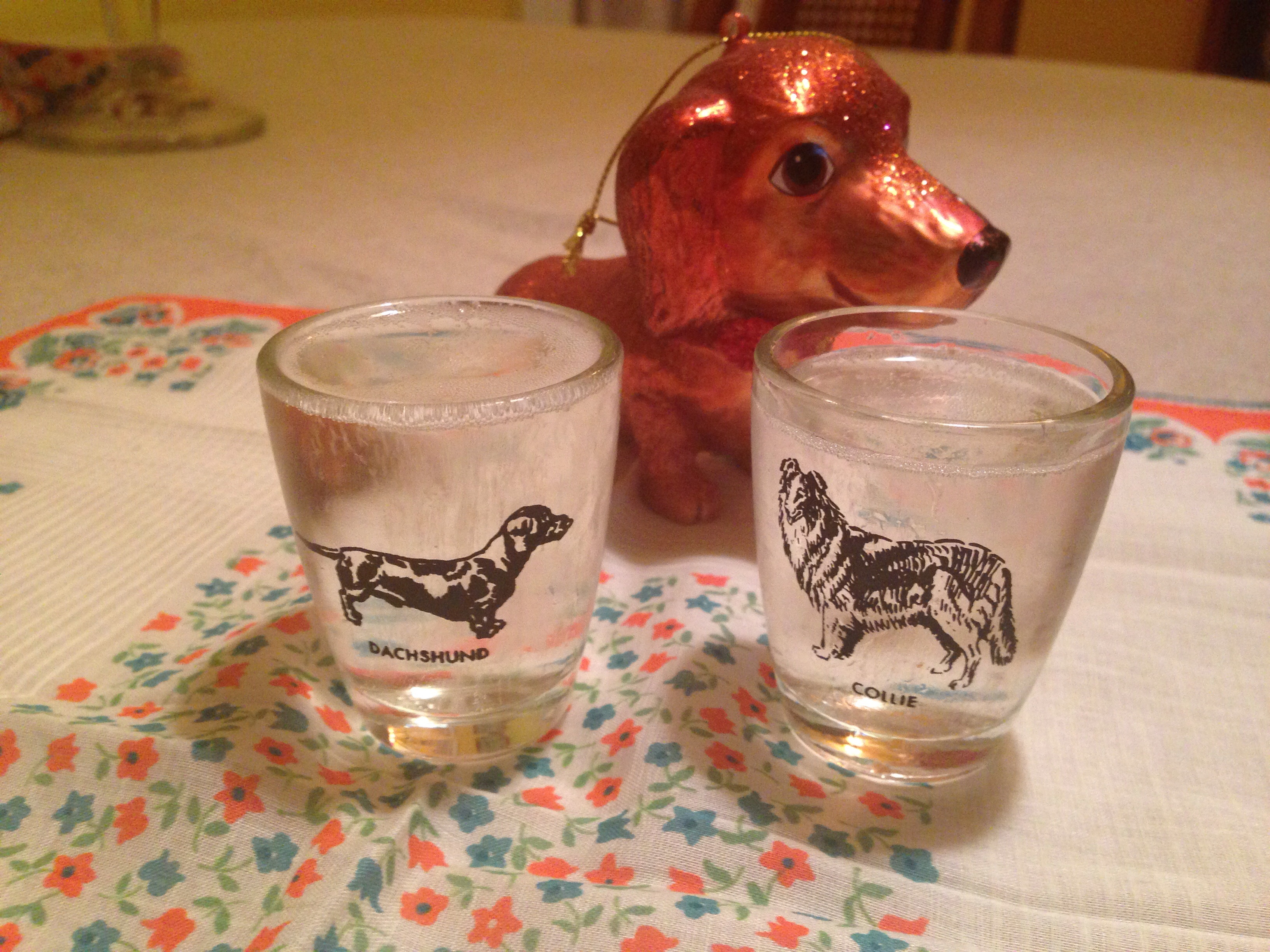 Champagne doggie shots!