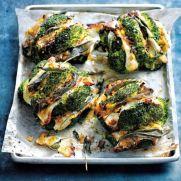Sage and Halloumi Roasted Broccoli with Caramelised Leeks