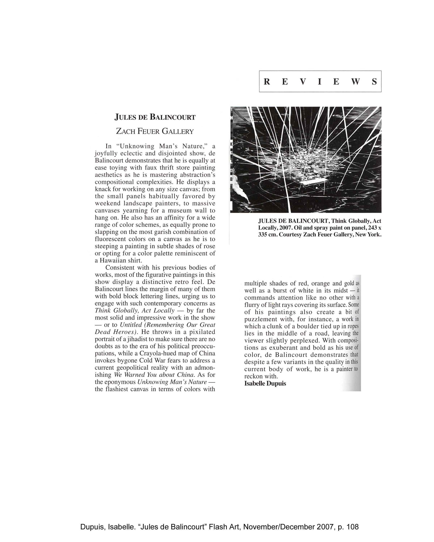 Jules de Balincourt Press