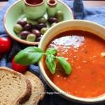 Titel für Tomatensuppe mit gerösteten Tomaten - Jules HappyHealthyLife