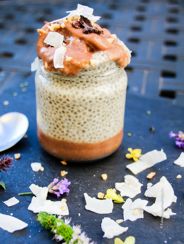 Erdnussbutter Chia Pudding - Jules HappyHealthyLife