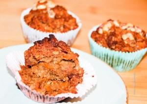 Carrot Apple Muffin vegan, gluten free with less sugar