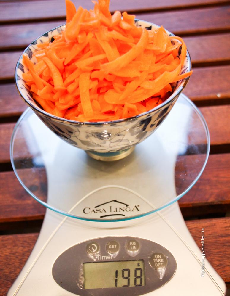 frische Karotten für Karotten Apfel Muffins
