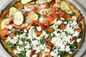 glutenfree-cauliflower-pizza-crust-with topping