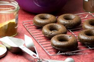 Einfache und schnelle gebackene Schoko Donuts