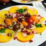 Fennel, Persimmon, Pomegranate Salad