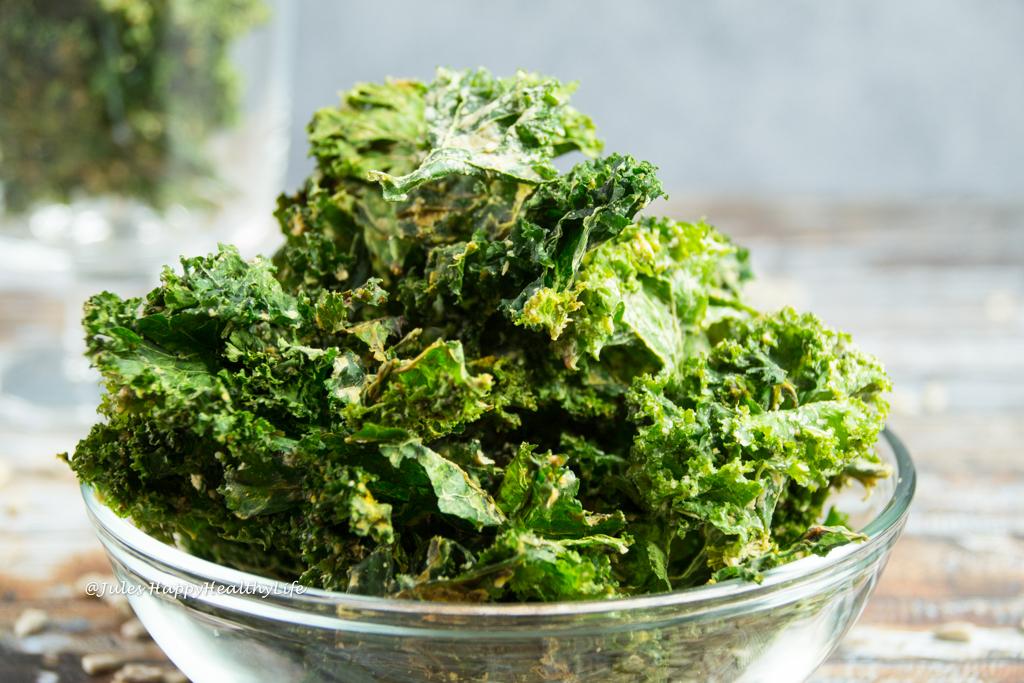 Miso Grünkohlchips glutenfrei, vegan selber machen