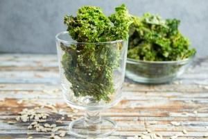 Rezept für glutenfreie, vegane Miso Grünkohlchips