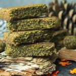 Matcha Sprouted Hemp Bars gluten free, vegan, no refined sugar