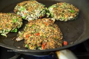 golden brown quinoa kale fritters gluten-free