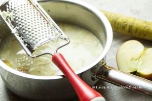 Frischer Meerrettich für Rote Bete Suppe - Jules HappyHealthyLife glutenfreier Food Blog