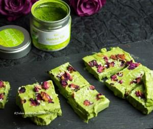 Gesund Matcha in Matcha Cheesecake glutenfrei und vegan