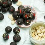 Rezept für vegane, glutenfreie Protein Energie Schoko Kugeln