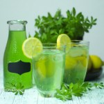 Homemade Woodruff Lemonade refined sugar free