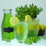 Homemade Woodruff Lemonade refined sugar free