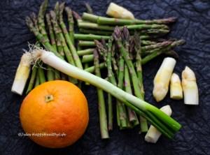 Kochen ist Kunst Zutaten für Spargel Grapefruit Salat