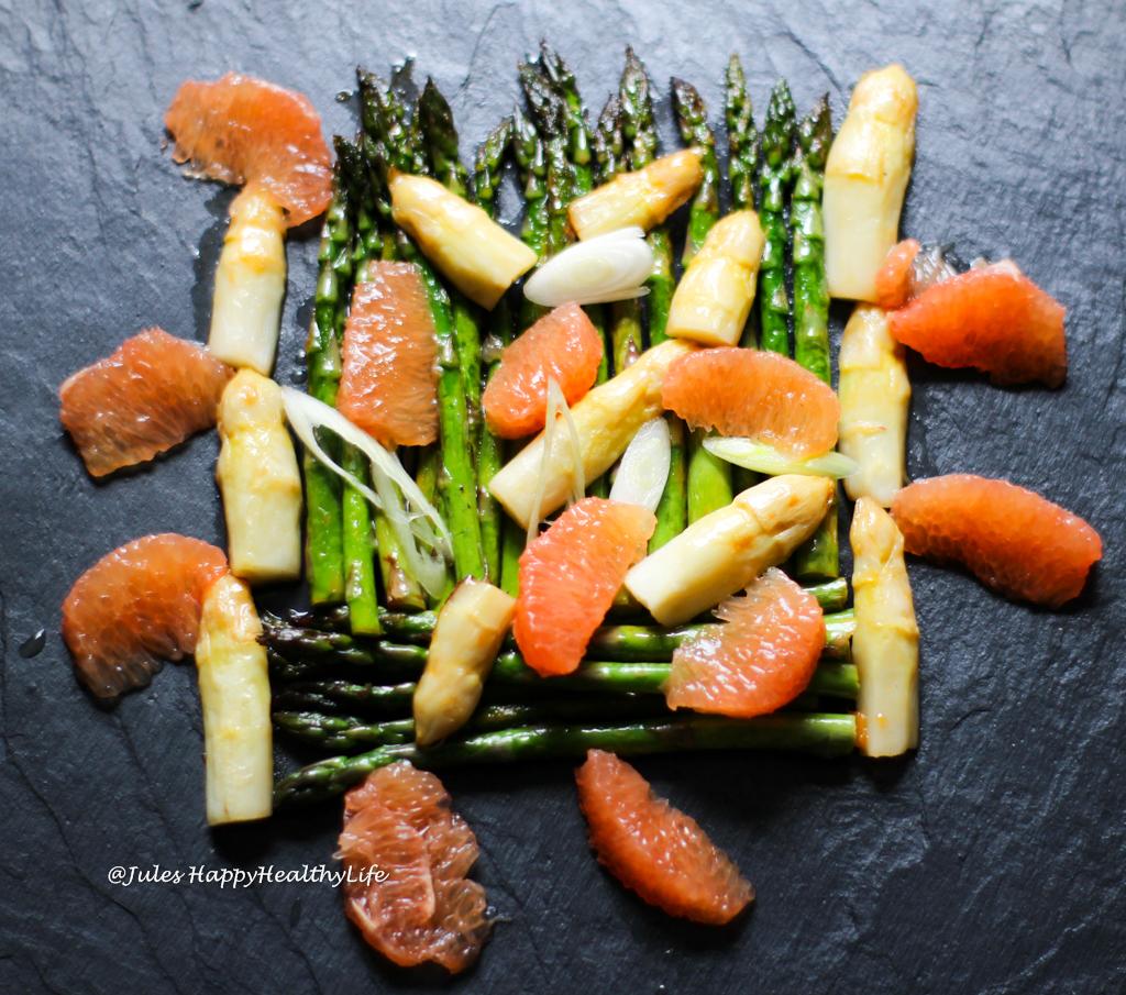 Spargel Grapefruit Salat inspiriert von Otto Freundlich