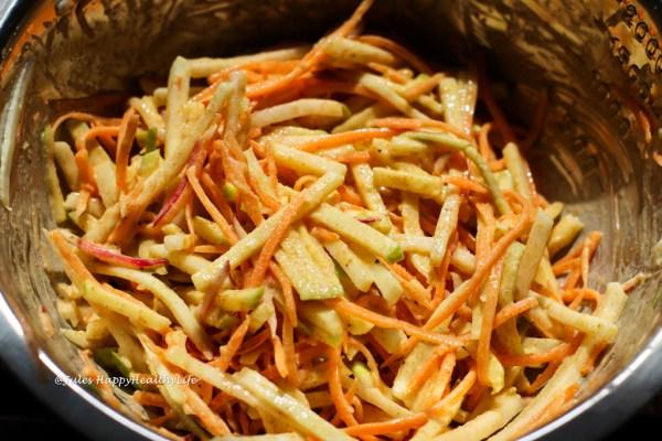 Veganer Kohlrabi Coleslaw glutenfrei