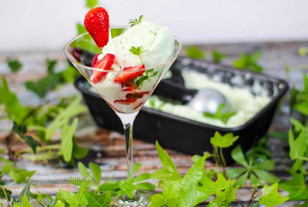 Rezept für glutenfreies, veganes Waldmeister Eis