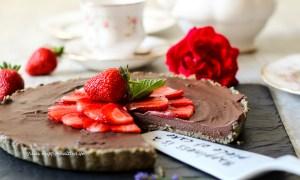 Pure Happiness Raw Chocolate Ganache Tarte vegan and gluten free