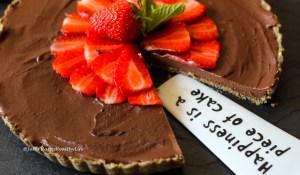 Raw Chocolate Ganache Tarte - gluten-free and vegan recipe