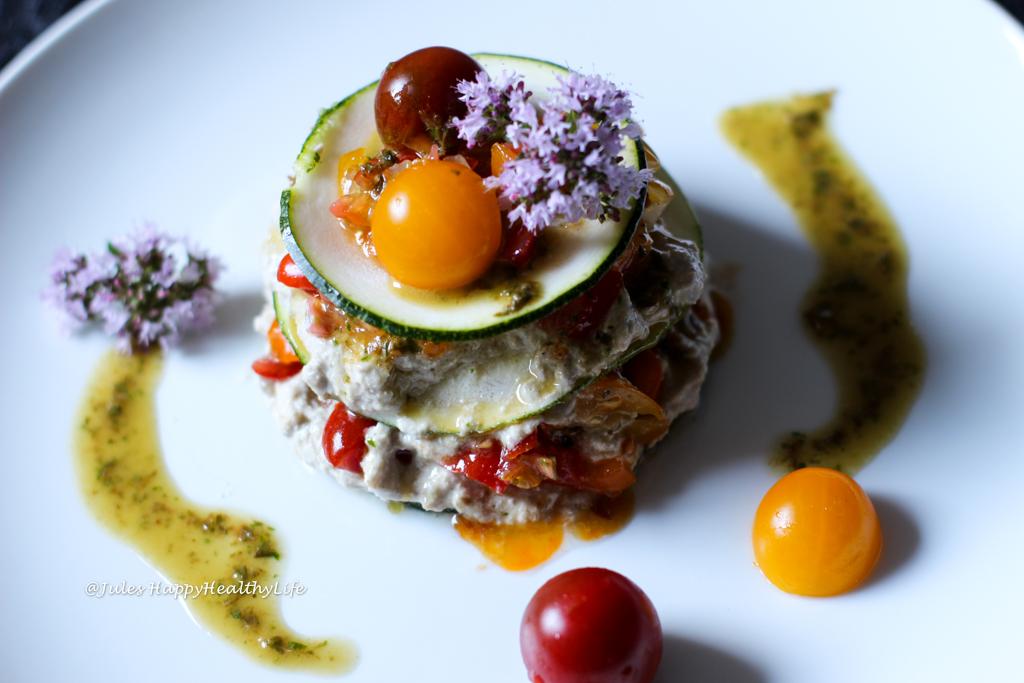 Rezept für glutenfreie, vegane Rohkost Getrüffelte Zucchini Lasagne