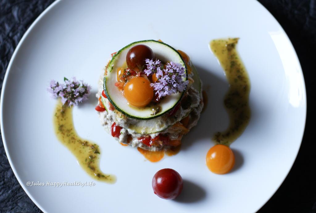 Das Rezept für die vegane, Rohkost Getrüffelte Zucchini Lasagene ist nussfrei, gut für Allergiker