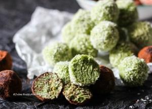 Einfaches Rezept für einen gesunden Snack - Kokosnuss Matcha Kugeln
