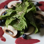 Recipe for Dandelion Salad with Blueberry Mustard Dressing