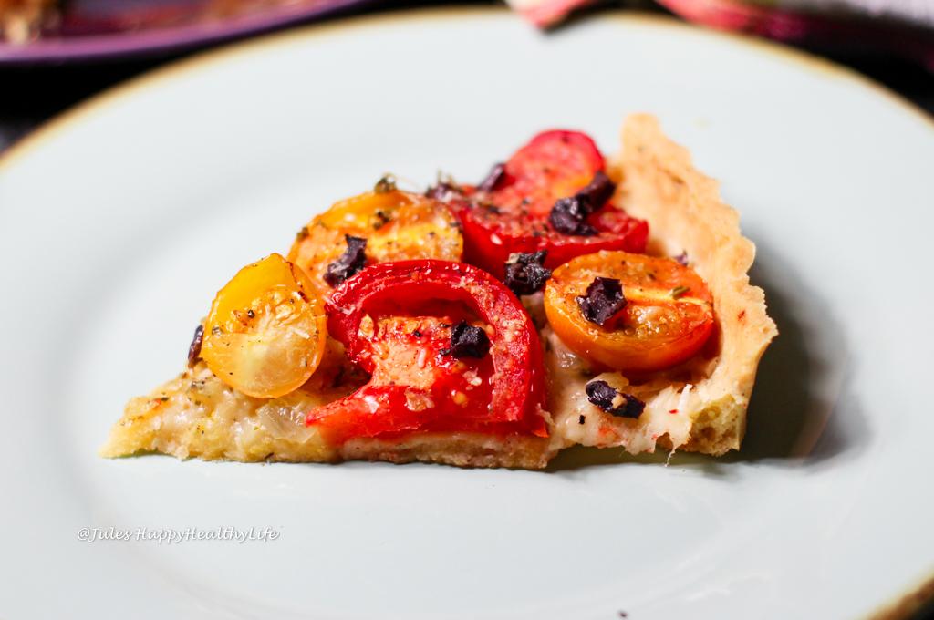 Leckere, schnelle und einfache, glutenfreie Tomaten Tarte