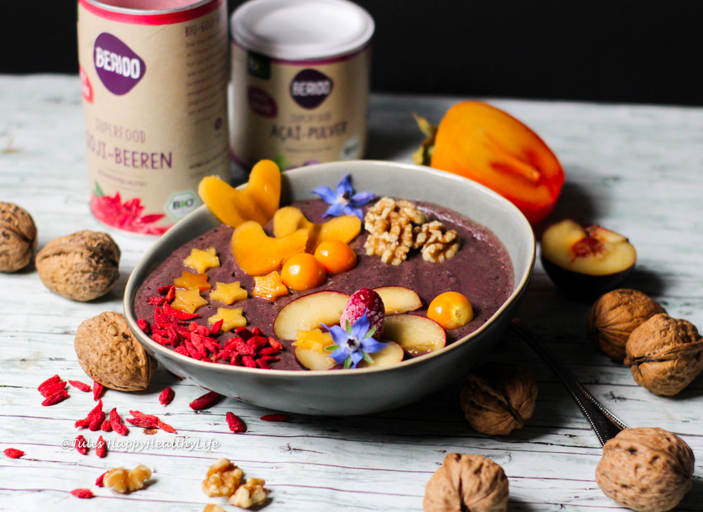 acai bowl mit maca gf v jules happyhealthylife. Black Bedroom Furniture Sets. Home Design Ideas