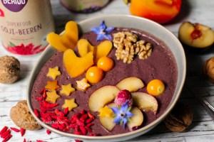 Rezept für Acai Bowl mit Maca und Goji Beeren