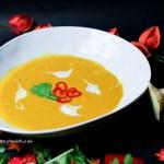 Rezepte für vegane Curry Kürbis Karotten Suppe