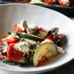 Rezept für einen mediterranen, schnellen Gemüseauflauf mit Feta