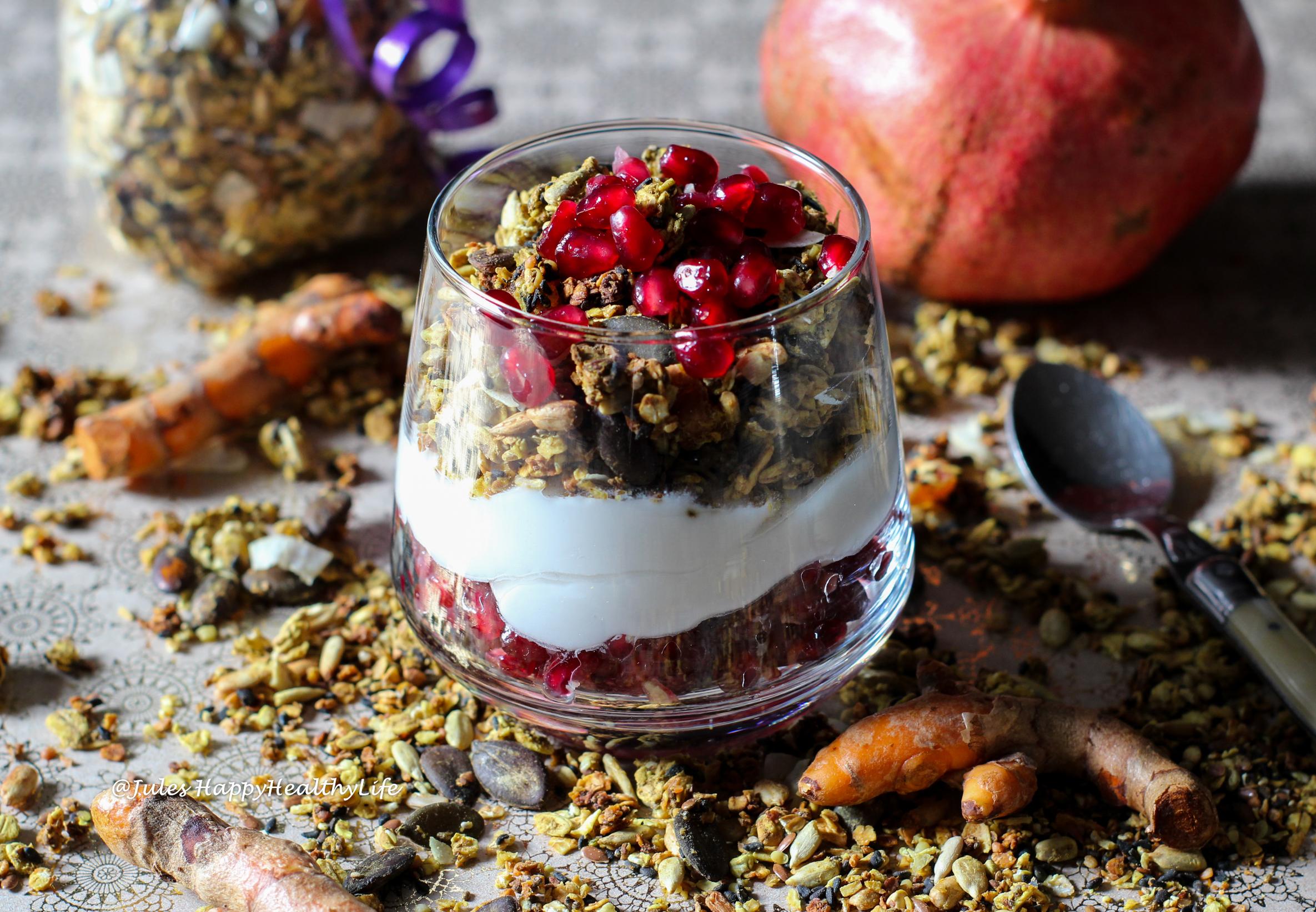 Rezept für Health Angel Yoga Granola - Kurkuma Chai Granola