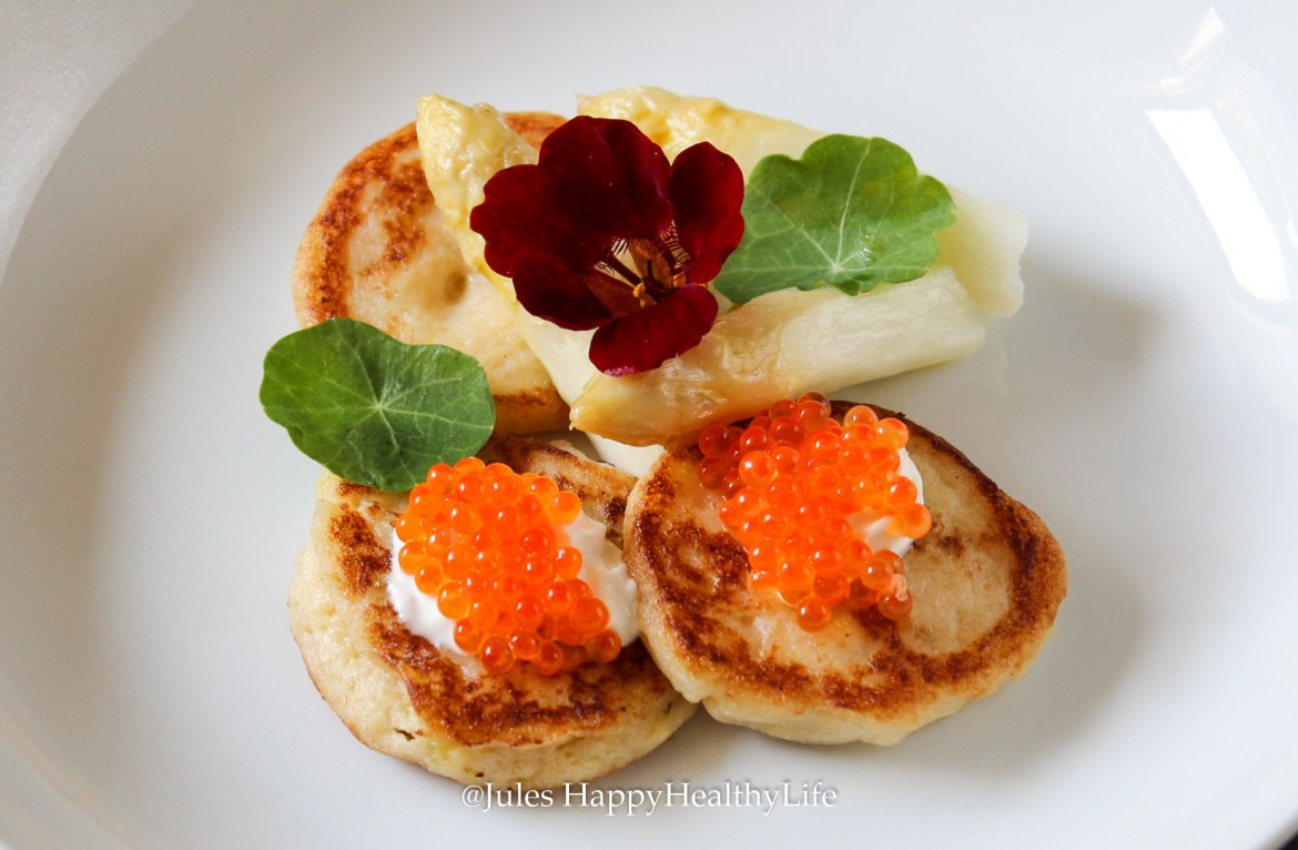 Cauliflower blinis can be combined wonderfully.