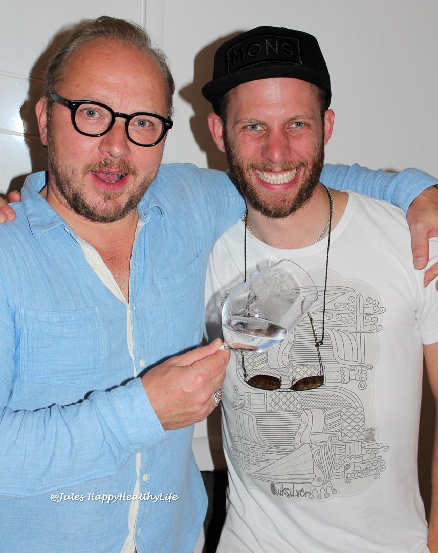Hendrik Thoma (Wein am Limit) und Winzer Jens Windisch (Werther Windisch) pflegten die gute Tischnachbarschaft.