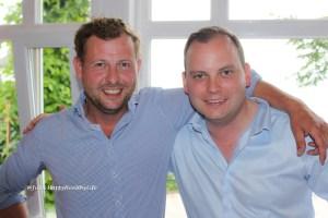 Winzer Kai Schätzel vom Weingut Schätzel und Victor Diel vom Weingut Diel
