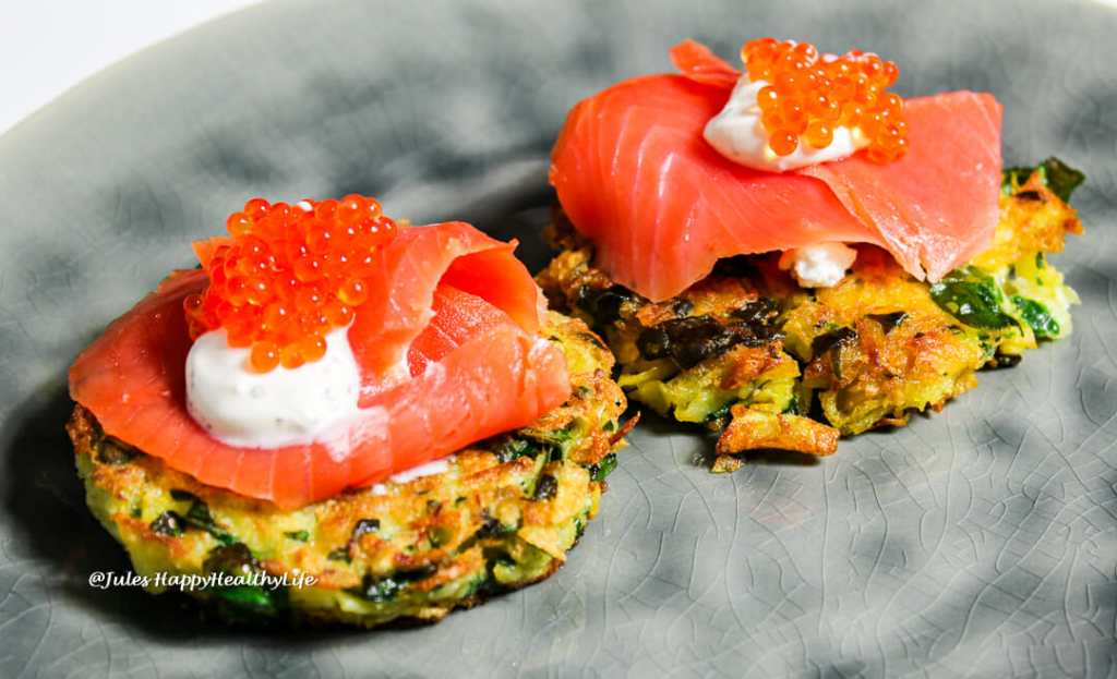 Latkes with Chard and Herz + Hand Scheurebe 2017 by Nico Espenschied
