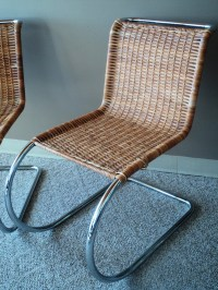 Pair of Iconic Mies van der Rohe MR10 Side Chairs ...