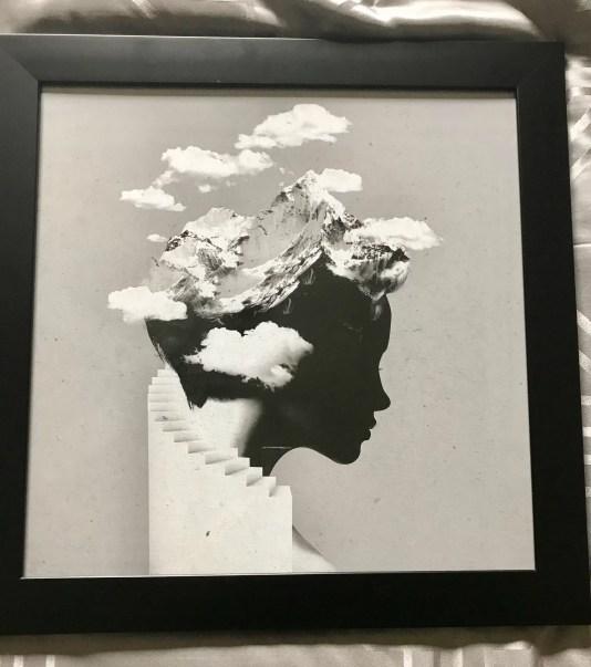 Head in clouds art