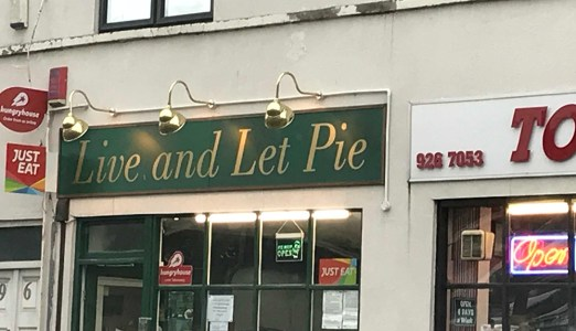 Pie shop, UK