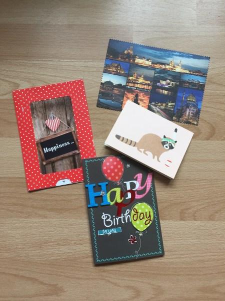 Karten, die ich zu meinem Geburtstag bekommen habe. <3