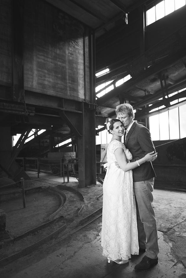 Hochzeitsfotograf Essen  Hochzeit auf Zeche Zollverein im