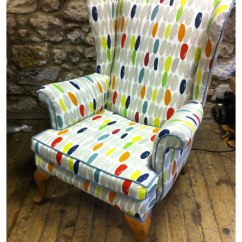 Wingback Chair Upholstery Ideas Cardboard Design No Glue Parker Knoll Re Upholstered Julia Douglas S
