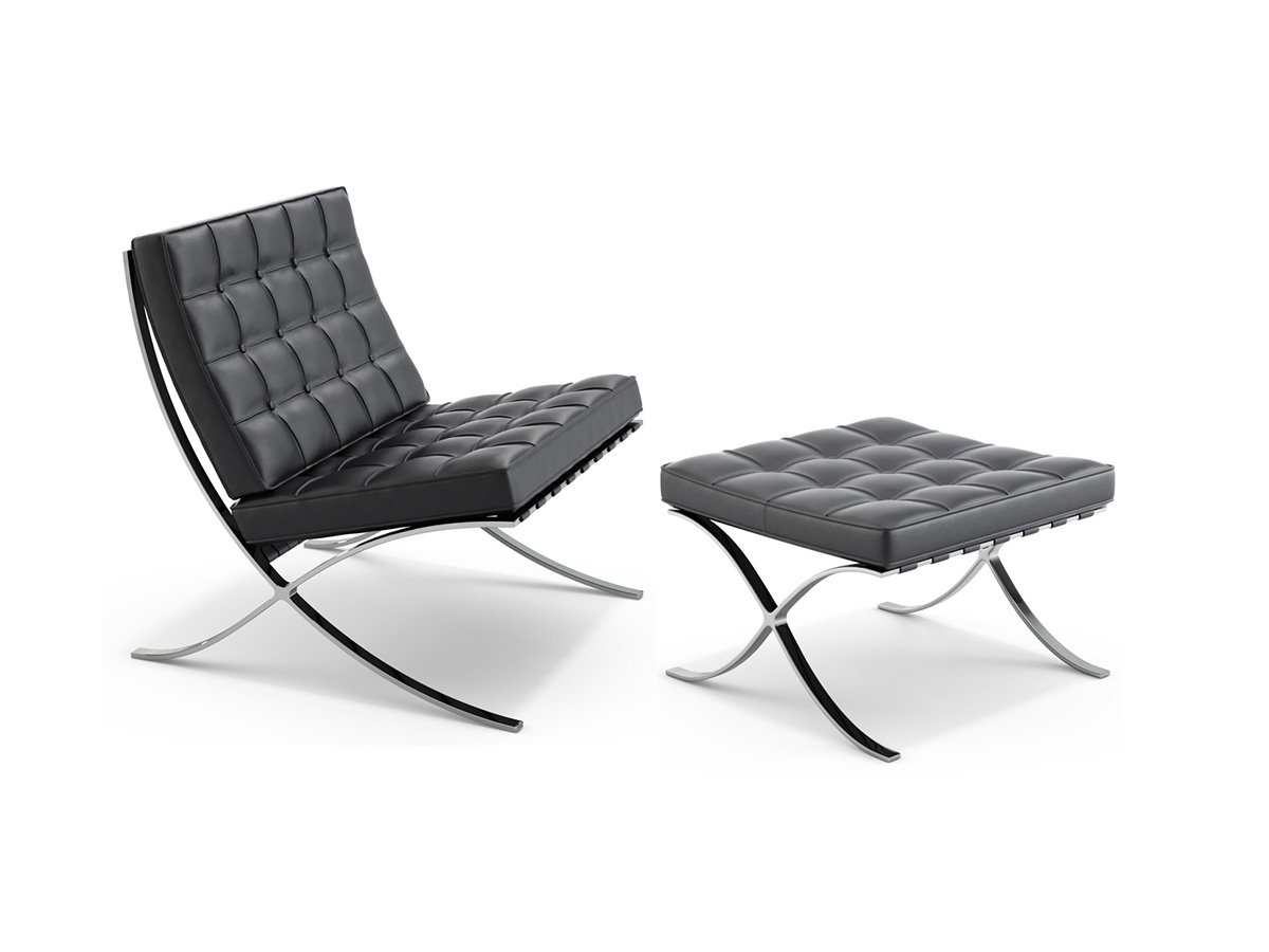 Design Furniture Barcelona Chair by Ludwig Mies van der