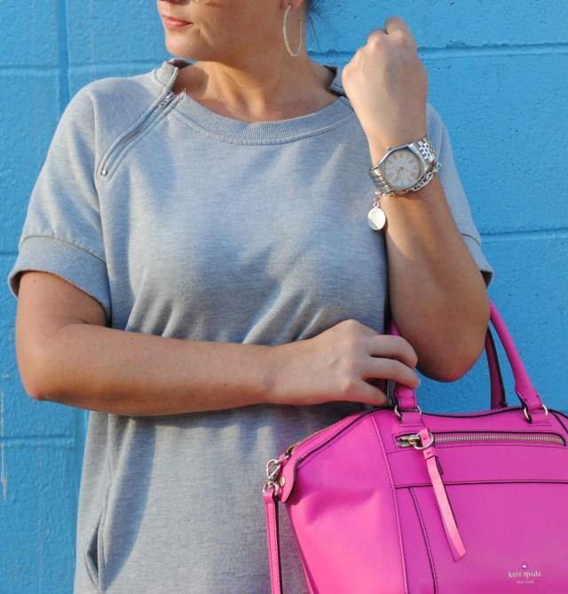 Kate Spade Statement Handbag, Zipper detail sweatshirt