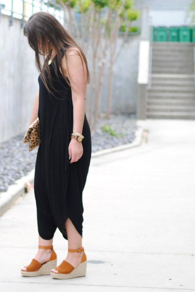 Harem Jumpsuit with this Summer's Must Have Wedge Sandals