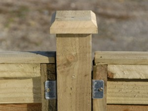 Erect a fence on concrete