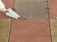 Repointing patio slabs
